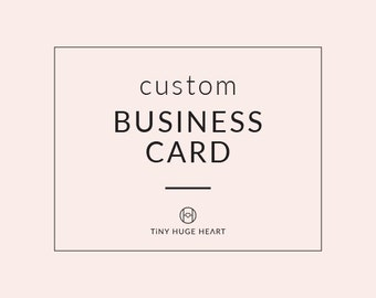 CUSTOM BUSINESS CARD - Branding Design