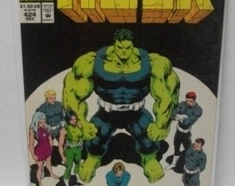 1994 The Incredible Hulk #424  Fall of The Pantheon  Pt 1 of 2  Good to VG-Vintage Marvel Comic Book