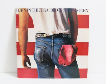 1980's Vintage Vinyl Record / 'Born In The U.S.A.' by Bruce Springsteen