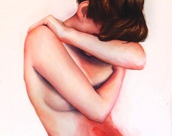 Dysmenorrhea - Original Watercolor