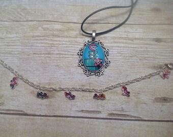 Mario gamer geek necklace set great gift/statement jewelry
