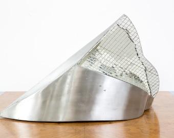 1970s Mirrored Glass Sculpture