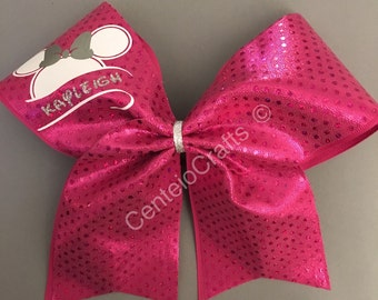 Minnie Mouse inspired custom cheer bow