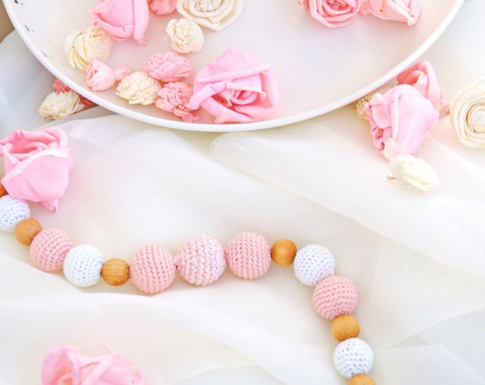 Teething necklace / Nursing necklace / Babtwearing necklace - Romantic