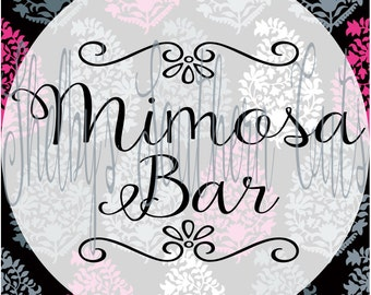 Mimosa Bar SVG/EPS/DXF . Brunch / Champagne / Shower / Wedding