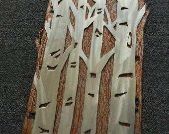 Gift for her. Aspen tree metal wall art. Birthday gift. Mother's day gift. Bathroom decor. Tree sculpture, home decoration. Metal aspen art
