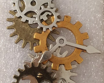 Steampunk Cogs n Gears Pendant Necklace