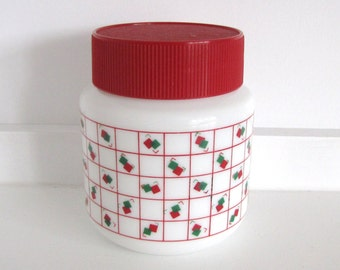 Vintage Arcopal Storage Jar/Container/Canister with Lid 1980's