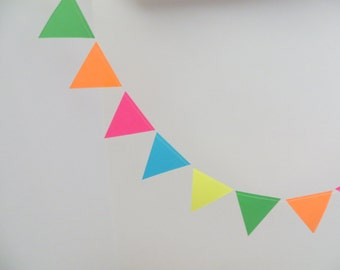 Neon Paper Garland, Party Decoration, Neon Banner, Party Banner, 10 Feet Long, Kids Party Decoration, Photo Prop