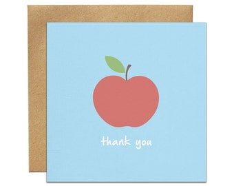 Thank You Apple Greeting Card   Made In Australia