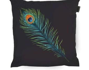 Peacock Cushion - Hindu Art - Peacock Pillow - Peacock coussin - Peacock Art - Art Pillow - Unique Pillows - Japanese Gifts