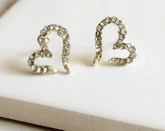 Silver Open CZ Earrings