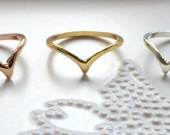 Chevron Knuckle Ring Midi