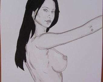 fr listing dessin erotique nu feminin original