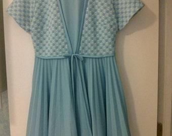 Vintage double knit polyester dress