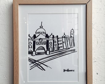 Melbourne station Etsy