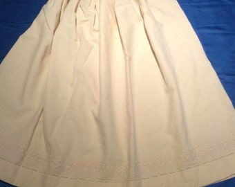 Vintage Wool Slip, 1900's Undergarment, Hand Sewn and Embroidered Antique