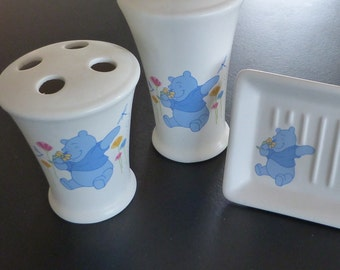 Disney Winnie The Pooh bathroom set from the 1990's.