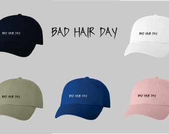 Dad Hat Baseball Cap Embroidered Bad Hair Day