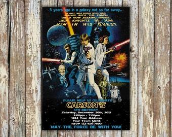 Star Wars  Invitation - Star Wars Invitation Birthday - Star Wars Party Invite - Star Wars Birthday Party Printable Episode 4