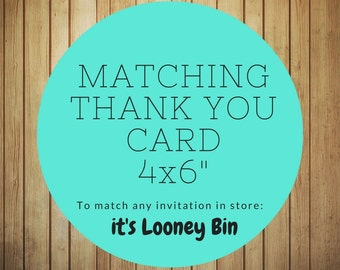 Add On: Matching Thank You Card
