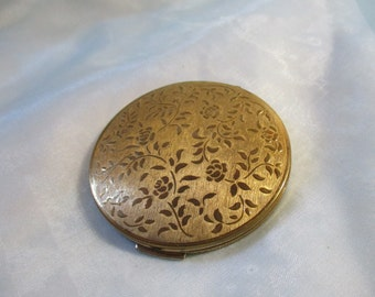 Stratton, made in England, Gold Tone Compact with Mirror