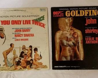 James Bond Original Movie Soundtracks, Lot 2: Goldfinger, You Only Live Twice