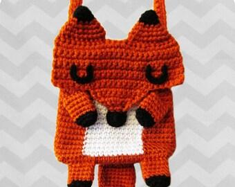 Amazing Kawaii Fox crossbody bag - PDF crochet pattern - INSTANT DOWNLOAD