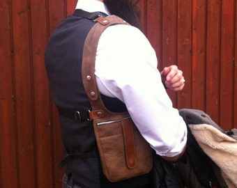 """Revolverbag Halftertasche Colttasche Männertasche Halfter Holster Tasche Mann Schultertasche Männer Tasche Schulterhalfter """"Carl"""""""