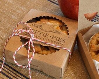 Wedding DIY - Wedding Favor Box - Mini Pie Packaging Kit - Pack of 20 - Sweetie Pies - Miniature - Country Wedding - Nostalgia