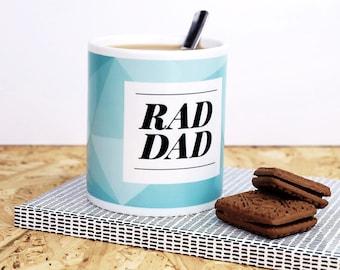 Rad Dad Mug - fathers day gift - mug for dad - gifts for dad, fathers day mug, dad birthday, dad gifts, geometric, geometric print