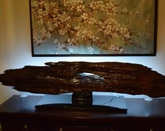 LED wood lamp