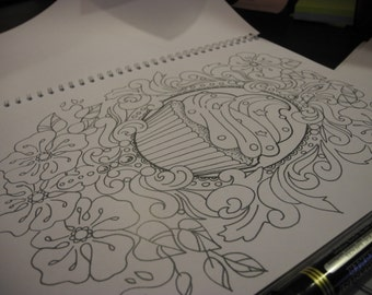 cup cake colouring page
