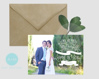Customized Thank You Template, Photo Thank You, Wedding, Printable, Wedding Thank You, Thank You, MCDOUGALL