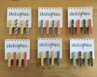 Small Decorated Clothes Pins