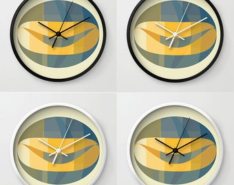 Abstract Colourful Art, Modern Wall Clock, Modern Clock, Abstract Art Clock, Wall Decor, Art Clock, Home Decor, Abstract Art Wall Clock