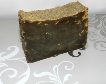 Pine Tar Soap. Lard and Lye Old Fashioned Pine Tar Tallow Soap, Psoriasis, Eczema and Scent Masking.