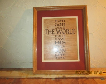 John 3;16 scroll saw art work
