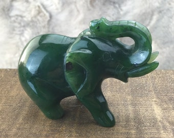 Canadian Jade Elephant Carving - Multiple Sizes - Sold Individually  - Summer Sale - 10% off - Promo Code: Summer2017