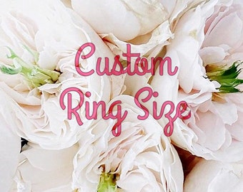 Add On Custom Ring Size