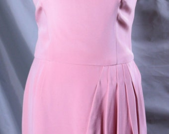 Pink Mad Men Style Dress 1980's do 1950's Size Medium