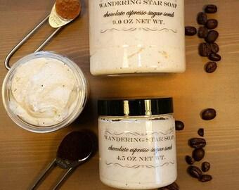 Chocolate Espresso foaming sugar scrub