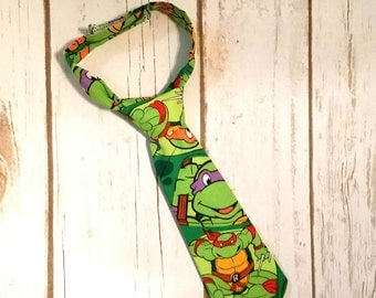 Ninja Turtles Necktie for Babies, Toddlers, Kids, and Adults