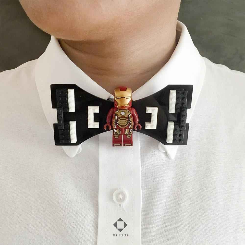 iron man bow tie gift for him boyfriend gift husband by bowblocks. Black Bedroom Furniture Sets. Home Design Ideas
