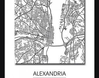 Alexandria Map - Art Print - Poster - Alexandria Virginia