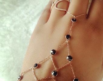 Black Empris CZ Slave Bracelet