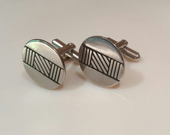 Mid-century modern cufflinks from the 1950's