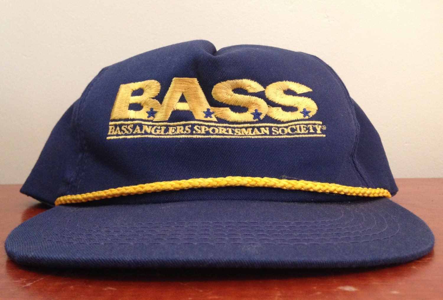 Vintage bass anglers sportsman society fishing trucker hat for Fishing trucker hats