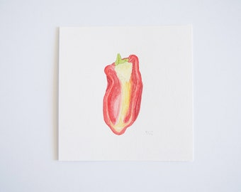 Red Pepper (original watercolor painting)