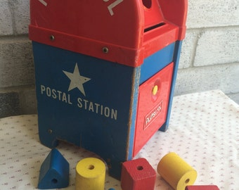 Playskool Mailbox, Fisher Price Mailbox Toy, Mailbox toy, Playskool Postal Station, Playskool Cubes